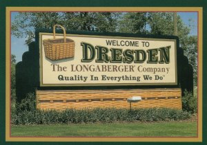 DRESDEN, Ohio, 1950-70s; Dresden Sign, Longaberger Baskets Company