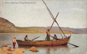 Postcard TIBERIUS Fishermans Boat No. A24510 English Printed Version