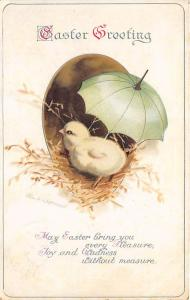 Ellen H Clapsaddle, Easter Greetings Holiday Postal Used Unknown