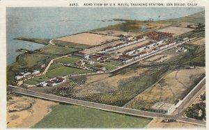 SAN DIEGO , California, 1928 ; Aerial View of U.S. Naval Training Center