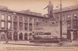 France Marne Reims Place Drouet D'Erlon After Bombardement By Germans