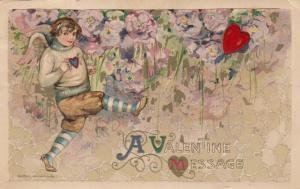 JOHN WINCH; Samuel Schmucker: PU-1911, Valentine Message, Cupid Playing Football