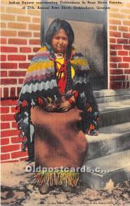 Indian Squaw, Ochlocknee in Rose Show Parade Ochlocknee, Georgia, GA, USA Ind...