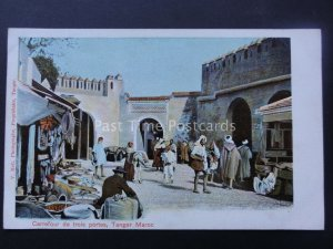 Morocco TANGER Carrefour de Trois Portes c1905 UB Postcard by Valentin Hell