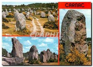 Modern Postcard Carnac Alignments of menhirs Kermario and Menec