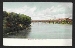 Water View Muskingum River Zanesville Ohio Unused c1905