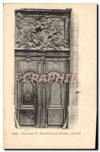 Old Postcard Dijon Door Louis XV Ecole St Francois de Sales