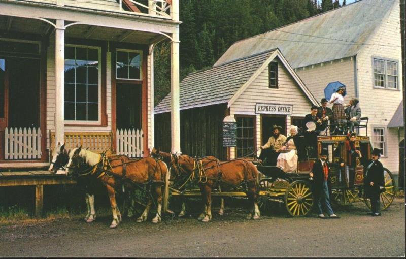 Barkerville BC Barkerville Show Barnard's Stage Horses Wagon