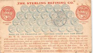 The Sterling Refining Co., Value, 1893 - 1903 Not how Cheap but how Good 1908