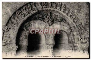 Angers Old Postcard Roman Arches in the Prefecture