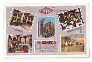 Seneca Hotel Rochester NY Multiview 1934 Kropp Postcard