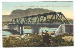 G. T. P. Bridge, McKay Mountain In Background, Fort Williams, Ontario, Canada...