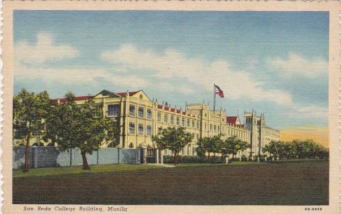 Philippines Manila San Beda College Building Curteich