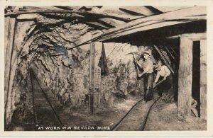 RP: Mining , Nevada , 1940s ; Interior of mine
