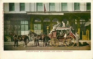 CA, Lakeport, California, Bartlett Stage Coach, Edward H. Mitchell