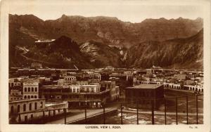Yemen Aden General view Panoramic view Postcard