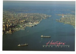 Large 5 X 7 inch, Ships in Halifax Harbour, Nova Scotia