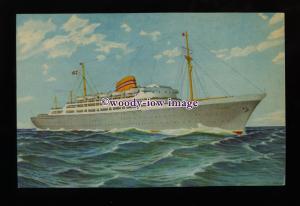 LS1495 - Norwegian American Line Liner - Oslofjord - postcard - artist