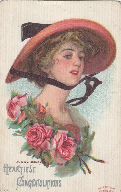 Woman portrait , 1900-10s ; #20A ; Artist F. Earl CHRISTY