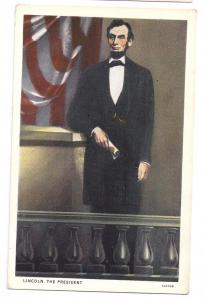Abraham Lincoln Portrait C. J. Long KY Patriotic Postcard