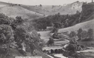 Wetton Mill Bridge Staffordshire Staffs Vintage 1950s Real Photo Aerial Postcard