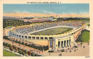 Football Stadium Post Card Buffalo Civic Stadium Buffalo, New York USA Unused