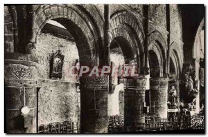 Modern Postcard Perros Guirec of the Interieur & # 39Eglise Old Romanesque co...