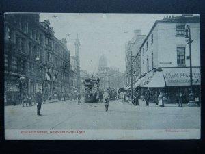 NEWCASTLE ON TYNE Blackett Street & J.H.FINLAY c1903 UB Postcard by Valentine