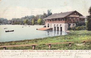 AUBURNDALE , Massachusetts , PU-1907 ; Police Station, Norumbega Park