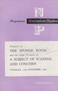 The Sponge Room Barbara Leigh-Hunt Ronald Magill Nottingham Theatre  Programme