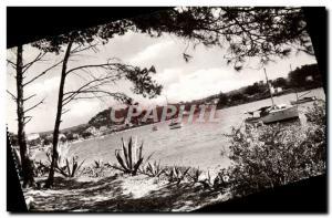 Postcard View Of Modern Porquerolles Harbor Boat