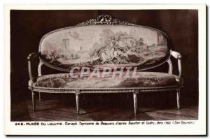 Old Postcard Louvre Museum Canape Tapestry of Beauvais & # 39apres Boucher an...