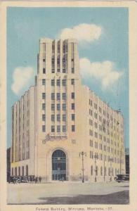 Federal Building, Winnipeg, Manitoba, Canada, PU-1942
