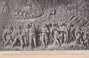 Mural, Hofkirche in Innsbruck, Relief am Kaiser Max Grab-Denkmal, Tirol, Aust...