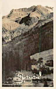 BAD FUSCH AUSTRIA KURANSTALT HOTEL POST~1933 A STETSKY PHOTO POSTCARD