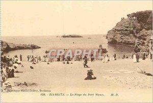 Postcard The Old Biarritz Port Vieux beach