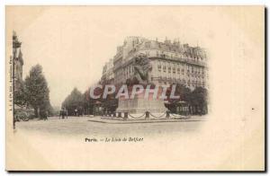 Paris (14) - Lion of Belfort Place Denfert Rochereau-Work of Bartholdi Greeti...