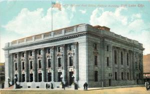 Salt Lake City Utah~General Post Office~Federal Building~1910 Postcard