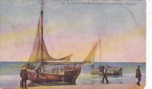 Netherlands Dutch Fishing Boats Near Scheveningen