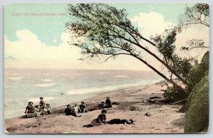 Cleveland Ohio~Along the Lake~Bathing Beauties on Sandy Beach~c1910