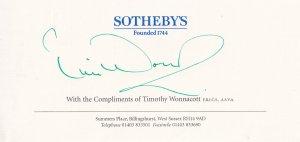 Tim Wonnacott The Antiques Roadshow Sothebys Auctions Official Hand Signed Ep...