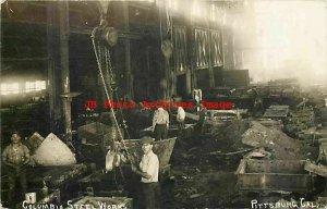 CA, Pittsburg, California, RPPC, Columbia Steel Works, Factory Interior View