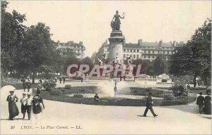 Old Postcard Lyon Place Carnot