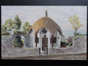 Lyme Regis UMBRELLA COTTAGE Art by PF Tunstall - Pub By J Salmon 4378