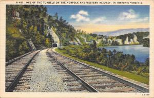 Historic Virginia~One Of The Tunnels On The Norfold And Western Railway~1940s