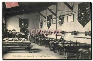 Old Postcard Army Military School Rambouillet Small Refectory