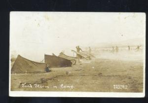 RPPC MEXICAN BORDER WAR EL PASO TEXAS SAND STORM REAL PHOTO POSTCARD HORNE