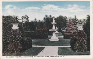 Statues in the Italian Gardens, Georgian Court, Lakewood, New Jersey 1910-20s