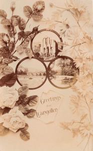 LLANGOLLEN WALES UK GREETINGS MULTI IMAGE PHOTO POSTCARD POSTMARK 1909