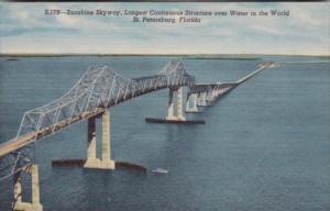 Florida St Petersburg Sunshine Skyway Bridge Curteich